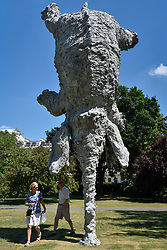 """© Licensed to London News Pictures. 05/07/2017. London, UK. """"Gran Elefandret"""", 2008, by Miquel Barceló.  The Frieze Sculpture festival opens to the public in Regent's Park.  Featuring outdoor works by leading artists from around the world the sculptures are on display from 5 July to 8 October 2017.  Photo credit : Stephen Chung/LNP"""