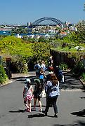 Sydney Harbour Bridge viewed from Taronga Zoo. Sydney, Australia