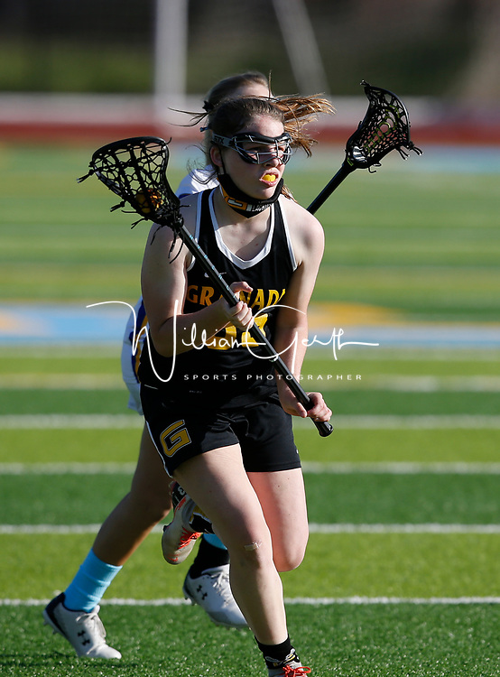 Granada vs Foothill in a girls lacrosse game at Foothill High School, Pleasanton CA on 4/13/21. (Photograph by Bill Gerth/ for Max Preps)