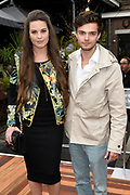 Mercedes Benz FashionWeek / Amsterdam Fashion Week zomer 2014 dag 4 - catwalk Tailor & Elbaz in de Gashouder, Amsterdam.<br /> <br /> Op de foto:   Robin Martens en Buddy Vedder