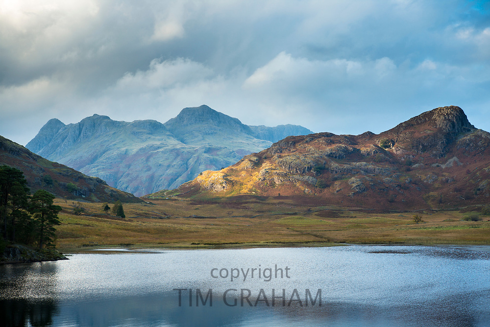 Blea Tarn lake near Little Langdale in the Lake District, Cumbria, UK