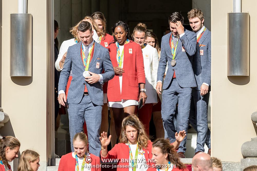 NLD/Den Haag/20160824 - Huldiging sporters Rio 2016, oa Annick van Emden