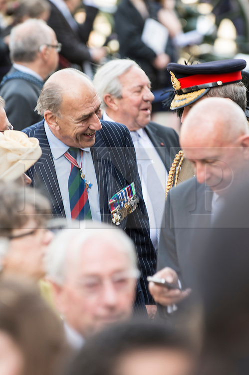 © London News Pictures. 18/06/2015. London, UK. General Mike Jackson (retired) arrives at a service of commemoration at St Paul's Cathedral to mark the 200th Anniversary of the Battle of Waterloo. <br />   Photo credit: Sergeant Rupert Frere/LNP