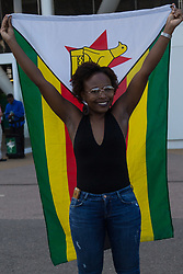 London, 2017-August-05. A group of Zimbabwean fan arrives for the evening session at the London Stadium at the IAAF World Championships London 2017. ©Paul Davey.