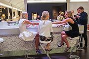 EMMA PILKINGTON; MARTHA WARD; TESSA PILKINGTON, Masterpiece Midsummer Party in aid of CLIC Sargent. Masterpiece London. The Royal Hospital, Royal Hospital Road, London, SW3. 3 July 2012.