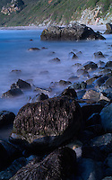 Long Exposure Exercise at Sand Dollar Beach, Big Sur Central California Coast. Image taken with a Nikon D3x and 50 mm f/1.4G lens  and Singh-Ray Filter (ISO 100, 50 mm, f/16, 15 sec).