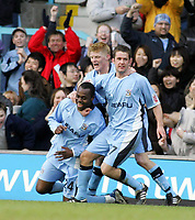 Photo: Paul Thomas. Coventry City v Cardiff City, Highfield Road, Coventry,  Coca Cola Chamionship. 12/03/2005. Coventry celebrate Stern Johns goal.