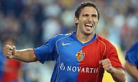 Basels Julio Hernan Rossi jubelt nach seinem Tor zum 2:0. © Alexander Wagner/EQ Images