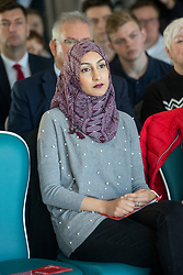 His wife Furheen. Anas Sarwar delivered a major speech and present his vision for Scotland's future, at DoubleTree by Hilton Hotel, Edinburgh.