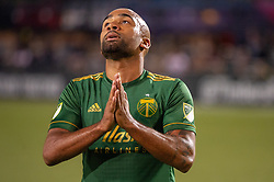 June 15, 2018 - Portland, Oregon, U.S. - PORTLAND, OR - JUNE 15: Portland Timbers forward Samuel Armenteros regrets a missed chance when his shot hit the crossbard during the Portland Timbers game versus the LA Galaxy in a United States Open Cup match on June 15, 2018, at Providence Park, OR. (Photo by Diego G Diaz/Icon Sportswire) (Credit Image: © Diego Diaz/Icon SMI via ZUMA Press)