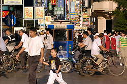 Busy Nanjing Road shopping street in central Shanghai China