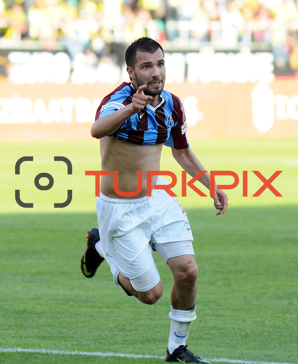 Trabzonspor's Engin BAYTAR celebrate goal during their Turkey Cup final match Trabzonspor between Fenerbahce at the GAP Arena Stadium at Urfa Turkey on wednesday, 05 May 2010. Photo by TURKPIX