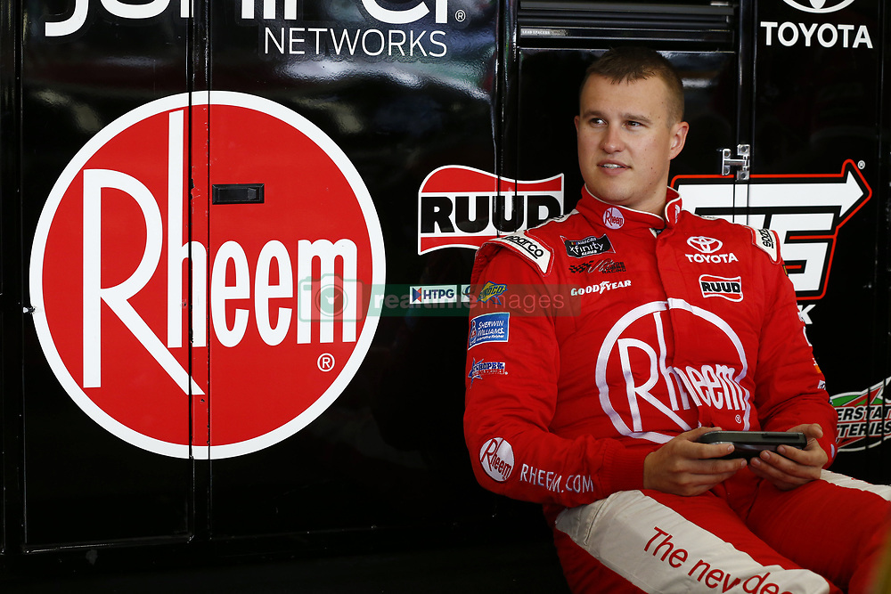 September 27, 2018 - Concord, North Carolina, United States of America - Ryan Preece (18) hangs out in the garage during practice for the Drive for the Cure 200 at Charlotte Motor Speedway in Concord, North Carolina. (Credit Image: © Chris Owens Asp Inc/ASP via ZUMA Wire)
