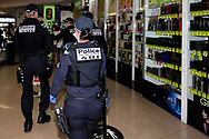 MELBOURNE, VIC - SEPTEMBER 20: Public Order Response Officers are seen clearing out Chadstone Shopping Centre after a small protests was held during a series of pop up Freedom protests on September 20, 2020 in Melbourne, Australia. Freedom protests are being held in Melbourne every Saturday and Sunday in response to the governments COVID-19 restrictions and continuing removal of liberties despite new cases being on the decline. Victoria recorded a further 14 new cases overnight along with 7 deaths. (Photo by Dave Hewison/Speed Media)