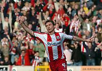 Photo: Kevin Poolman.<br /> Wolverhampton Wanderers v Southampton. Coca Cola Championship. 31/03/2007. Mark Saganowski celebrates his hat trick and Southampton's sixth.