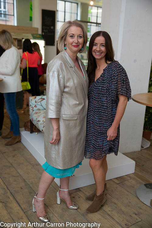 25/6/15 Bairbre Power and Fionnuala McCarthy at the launch of House, Ireland's new interior design event (by INM) at The Choclate Factory in Dublin. Picture: Arthur Carron