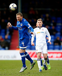 Brian Wilson of Oldham Athletic and Josh Vela of Bolton Wanderers - Mandatory by-line: Matt McNulty/JMP - 15/04/2017 - FOOTBALL - Boundary Park - Oldham, England - Oldham Athletic v Bolton Wanderers - Sky Bet League 1