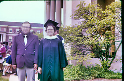 Sharon Guengerich college graduation 1974 - Elmhurst College<br /> <br /> Ron Guengerich, Sharon Guengerich<br /> <br />  Photos taken by George Look.  Image started as a color slide.