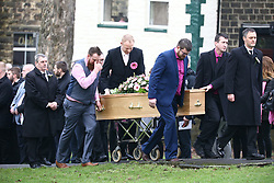 © Licensed to London News Pictures. 10/01/2018. Skipton UK. The funeral of Jodie Willsher is taking place today at Christ Church in Skipton. Jodie was stabbed to death just before Christmas at an Aldi store in Skipton, 44 year old Neville Hord has been charged with her murder. Jodie's husband Malcolm has asked those attending to wear something pink to remember his wife.Photo credit: Andrew McCaren/LNP