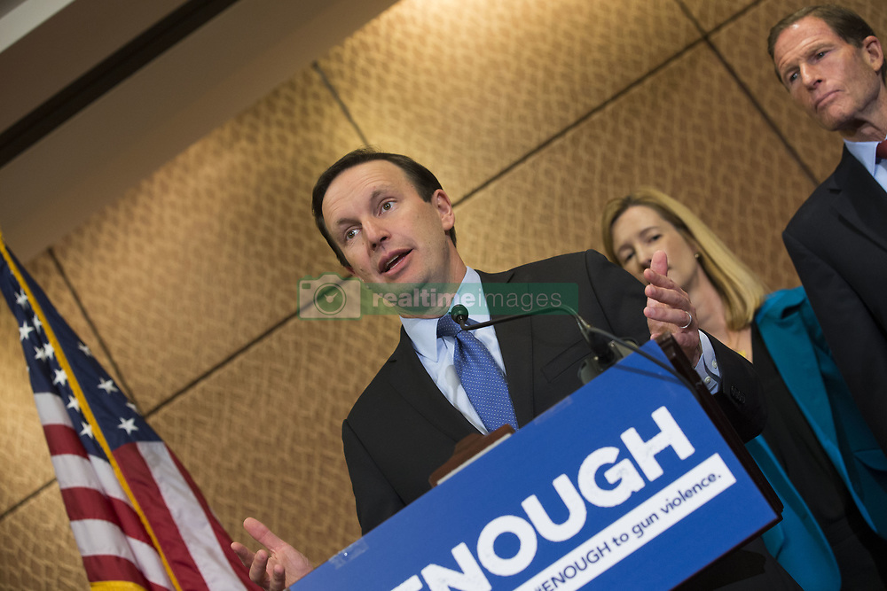 October 3, 2017 - Washington, District Of Columbia, USA - Senator CHRIS MURPHY (D-CT) speaks during a press conference on gun violence held by Senate Democrats at the United States Capitol. The group of lawmakers demanded new legislation to bring forward gun control measures in response to the mass shooting in Las Vegas. (Credit Image: © Alex Edelman via ZUMA Wire)