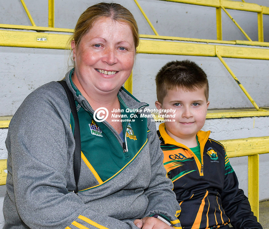 Louise and Harvey Daly, Oldcastle at the Meath v Kerry,  Joe McDonagh Cup match at Pairc Tailteann, Navan.<br /> <br /> Photo: GERRY SHANAHAN-WWW.QUIRKE.IE<br /> <br /> 10-07-2021