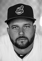 Indians Yonder Alonso poses for a portrait  on March 2018.<br /> (Photo/Tom DiPace)