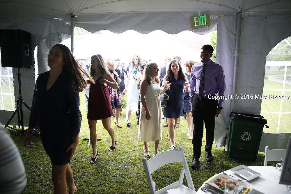 SHOT 6/1/16 7:00:18 PM - Colorado Academy Senior Class portrait in front of the Wellborn House and Class of 2016 Commencement Dinner at the Denver, Co. private school. (Photo by Marc Piscotty / © 2016)