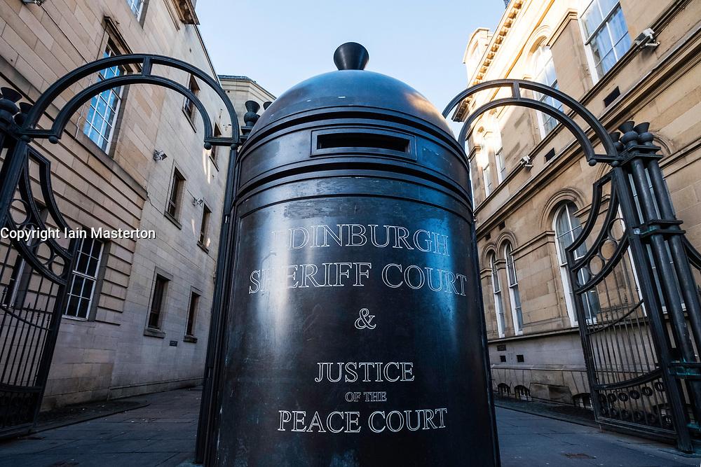 Exterior view of Edinburgh Sheriff Court in Scotland, United Kingdom