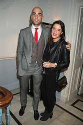 DRUMMOND MONEY-COUTTS and his sister ROSIE MONEY-COUTTS at the Tatler Little Black Book Party at Home House Member's Club, Portman Square, London supported by CARAT on 11th November 2015.