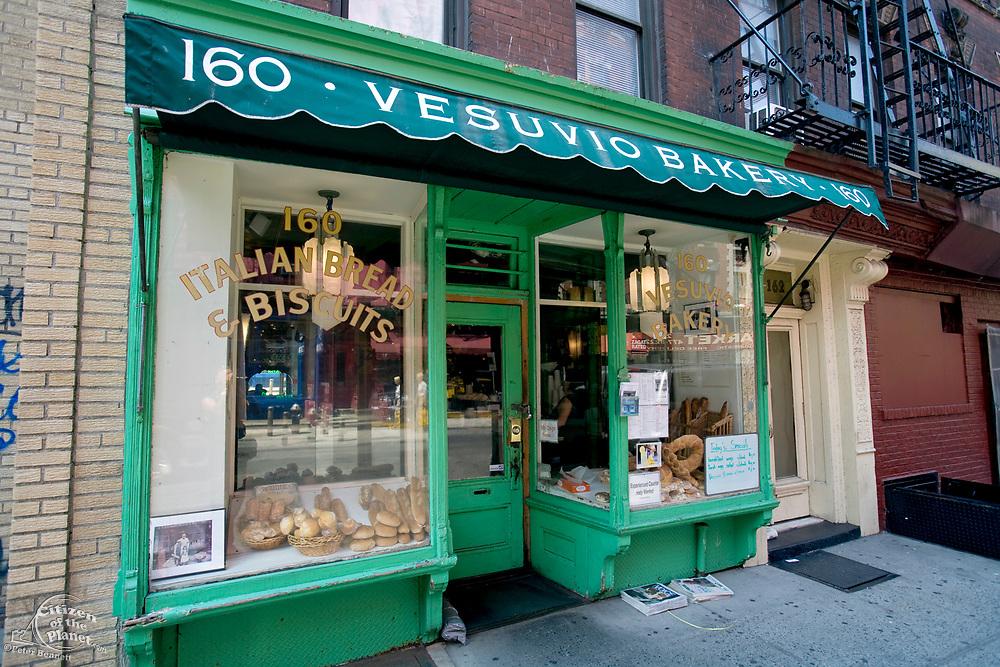 Vesuvio Bakery closed in 2009 and is currently the Birdbath Bakery, SoHo, Manhattan, New York