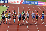 Start of the Men's 1500m race. The British Championships 2016, athletics event at the Alexander Stadium in Birmingham, Midlands  on Saturday 25th June 2016.<br /> pic by John Patrick Fletcher, Andrew Orchard sports photography.