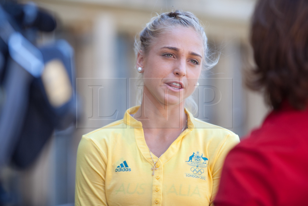 © London News Pictures. 23/07/2012. Tonbridge, Kent. Genevieve LaCaze - 3000m steeplechase. Photocall for the Australian Olympic Athetics team who are based at Tonbridge School in Kent.
