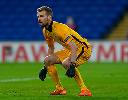 CARDIFF, WALES - Wednesday, November 18, 2020: Finland's goalkeeper Lukáš Hrádecký during the UEFA Nations League Group Stage League B Group 4 match between Wales and Finland at the Cardiff City Stadium. Wales won 3-1 and finished top of Group 4, winning promotion to League A. (Pic by David Rawcliffe/Propaganda)