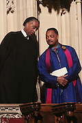 6 January 2010- New York NY- l to r: Rev. Al Sharpton and Rev. Jesse Jackson at the Percy E. Sutton's Funeral held at The Riverside Church on January 6, 2010 in New York City. Photo Credit: Terrence Jennings/Sipa