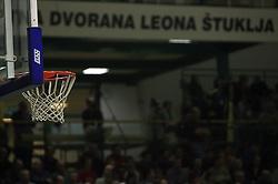 The basket at UPC basketball league match between KK Krka and KK Helios Domzale, on April 4, 2009, in Hall Leon Stukelj, Novo mesto, Slovenia. (Photo by Vid Ponikvar / Sportida)