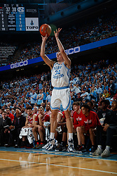 CHAPEL HILL, NC - FEBRUARY 25: Justin Pierce #32 of the North Carolina Tar Heels plays during a game against the North Carolina State Wolfpack on February 25, 2020 at the Dean Smith Center in Chapel Hill, North Carolina. North Carolina won 79-85. (Photo by Peyton Williams/UNC/Getty Images) *** Local Caption *** Justin Pierce