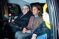 © Licensed to London News Pictures. 07/12/2016. London, UK. GINA MILLER (right) in a taxi as she leaves the Supreme Court in Westminster, London following day three of a hearing to appeal against a November 3 High Court ruling that Article 50 cannot be triggered without a vote in Parliament. Photo credit: Ben Cawthra/LNP