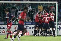 Fotball<br /> Frankrike 2004/2005<br /> Foto: Dppi/Digitalsport<br /> NORWAY ONLY<br /> <br /> LILLE OSC v PARIS SG - 07/05/2005 - LILLE JOY AFTER THE KEVIN MIRALLAS'S GOAL
