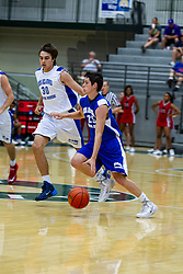 28 June 2014: Max Strus & Max Cook 2014 Boys Illinois Basketball Coaches Association All Start game at the Shirk Center in Bloomington IL