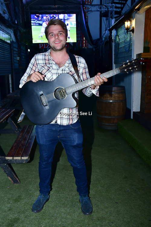 """Irish singer Brendan Cleary performs at The Third Annual Integrity Awards by Dragon Lady Productions and The Peace Project 21st """"The Alternative Fashion Integrity Awards 2019 & Film Networking Soirée"""" on 21 September 2019, Fire Club Vauxhall, London, UK."""