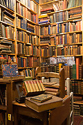 Interior of Armchair books on the 9th November 2018 in Edinburgh, Scotland in the United Kingdom. Armchair Books is a secondhand and antiquarian book shop in Edinburghs West Port.