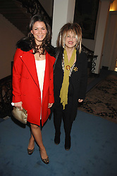 Left to right, LAURA RICHENBERG and designer ELIZABETH EMANUEL at a party to celebrate the publication of Dell'Olio's book 'My Beautiful Game' held at the Italian Embassy, Grosvenor Square, London on 17th April 2008.<br /><br />NON EXCLUSIVE - WORLD RIGHTS
