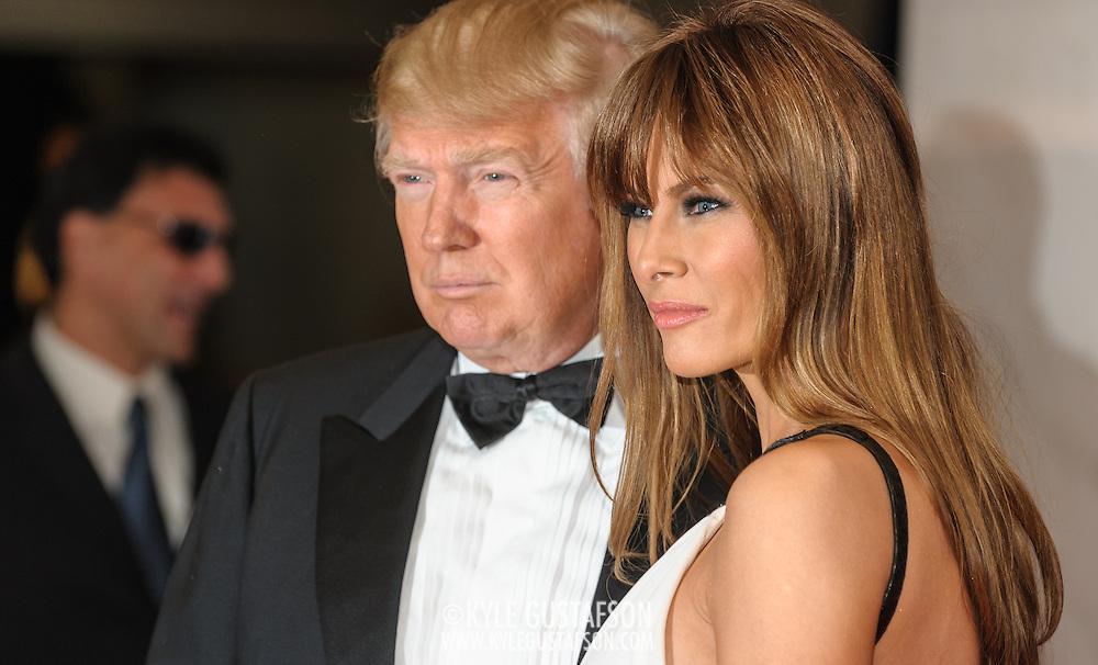 Donald Trump and Melania Trump at the 2011White House Correspondents Dinner at the Washington Hilton. Photo by Kyle Gustafson