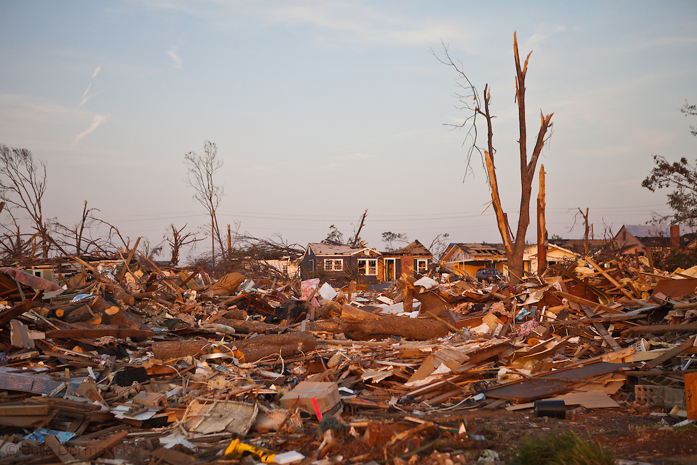 Destoryed Homes  in Tuscaloosa Alabama after being hit by a tornado  . Tuscaloosa was hit by  F-4 and  possibly  F-5 tornados that were part of a storm  of an estimated 300 that struck Alabama and the neighboring states on April 27th , 2011.