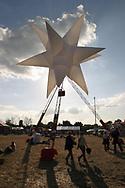 Star Sculpture, Glastonbury Festival, Somerset, Britain - 28 June 2003.