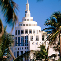 1999 view of Loews Hotel, Miami Beach.  Photo taken from Ocean Drive, South Beach looking north .