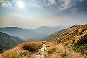 Footpath in the Reiek mountains, Mizoram, India