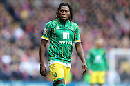 Dieumerci Mbokani of Norwich City looks on. Barclays Premier League match, Crystal Palace v Norwich city at Selhurst Park in London on Saturday 9th April 2016. pic by John Patrick Fletcher, Andrew Orchard sports photography.