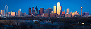Dallas downtown skyline at sunset