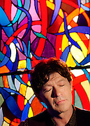 """Singer/songwriter Robbie Robertson, former member of """"The Band"""" and now in the Rock 'n Roll Hall of Fame. At his recording studio, W. Los Angeles."""